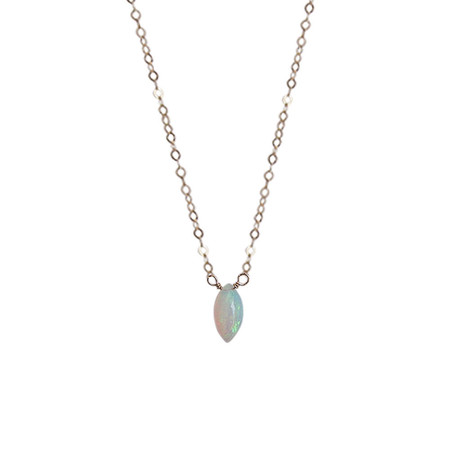 Strut Jewelry – Opal Marquise Necklace