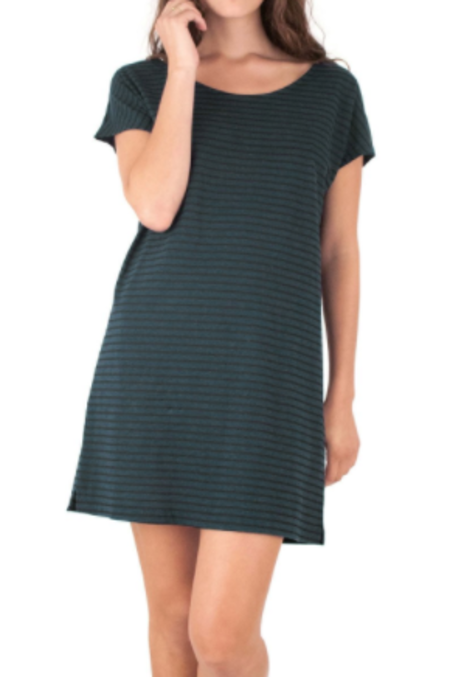 Mollusk Stripe Hemp Tee Dress