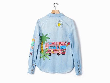 Mira Mikati Ice Cream Denim Shirt