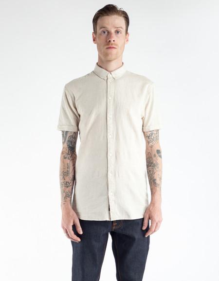Minimum Ezra Short Sleeve Shirt Oyster Grey