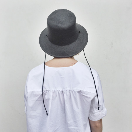 Clyde Toni Hat in Charcoal Toyo