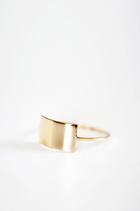 Kristen Elspeth 14K Gold Shield Ring