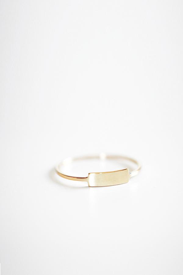 Kristen Elspeth Gold Blade Ring