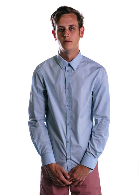 Norse Projects Osvald Classic Poplin (Pale Blue)