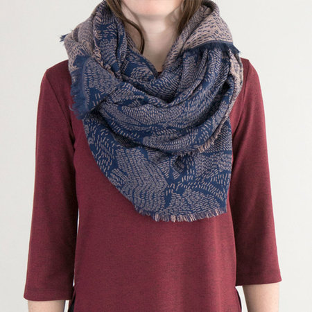 Closed Jacquard Double-sided Scarf