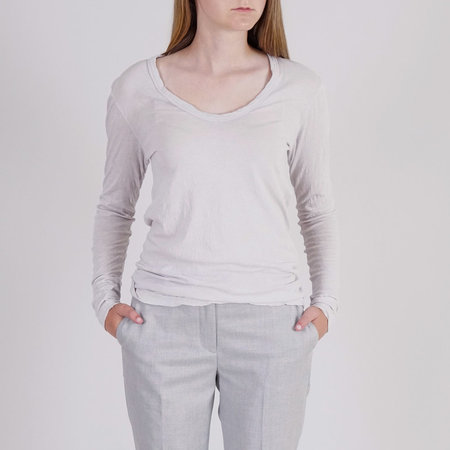 Cotton Citizen Marseilles Long Sleeve Top - Grey