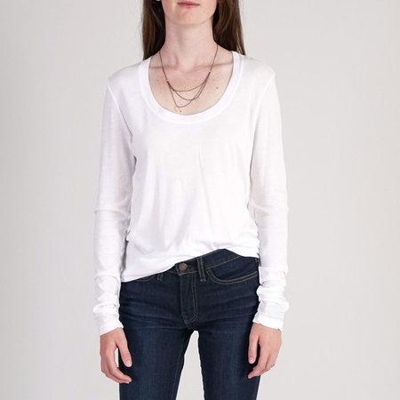 Cotton Citizen Mykonos Long Sleeve Top - White