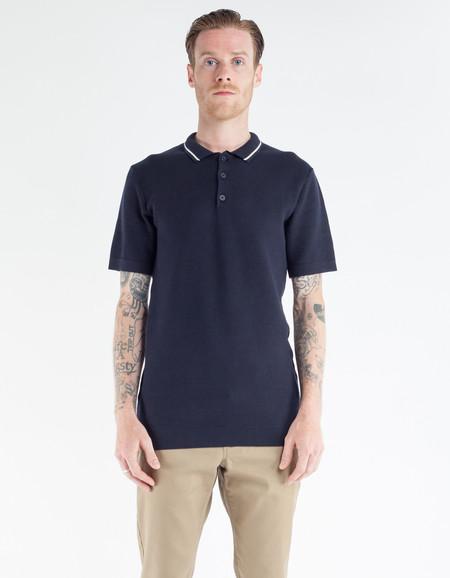 Minimum Zigg Polo Shirt Dark Navy