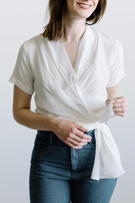 Wray Wrap Top White