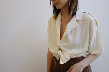 Hey Jude Vintage Brushed Silk Top