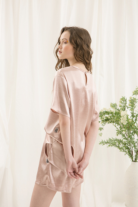 A.A Satin marie blouse- pink