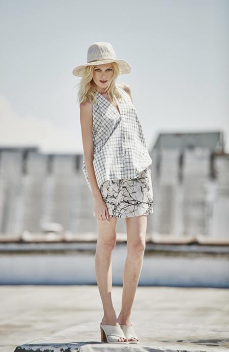 H. Fredriksson Twigs Lino Skirt