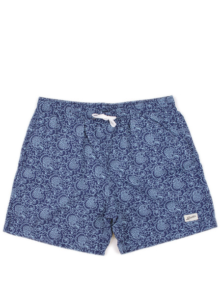 Bather Blue Floral Swim Trunk