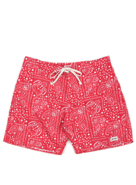 Bather Red Bandana Surf Trunk