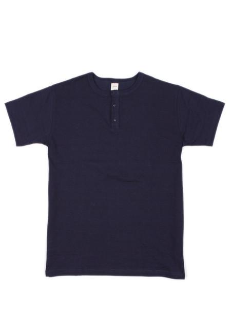 3Sixteen Short Sleeve Henley Indigo