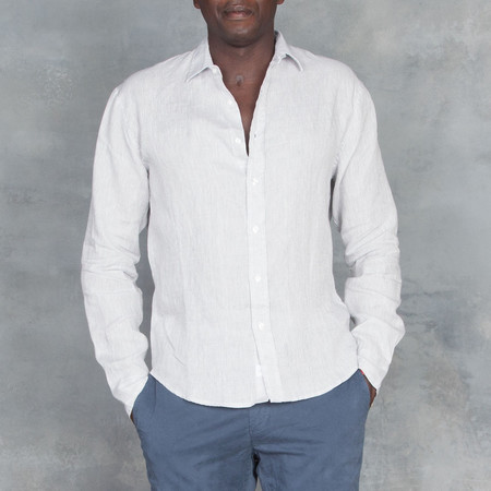 Frank and Eileen Paul Button Down Washed Grey