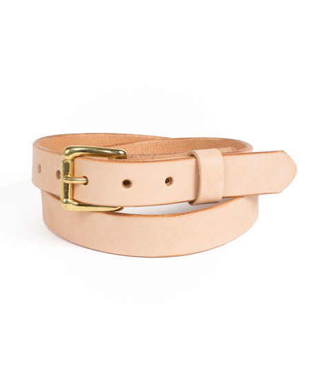 Wood&Faulk Natural Vegetable Tanned Slim Martin Belt