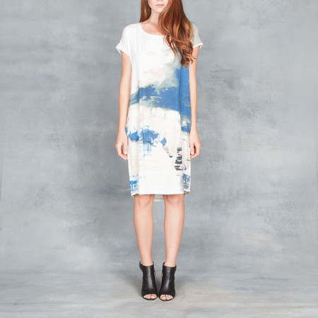 GOSILK Go Raw Dress Jackson Pollack Print