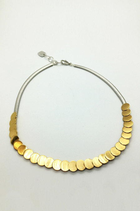Jorge Morales Gold Sequin Stud Choker