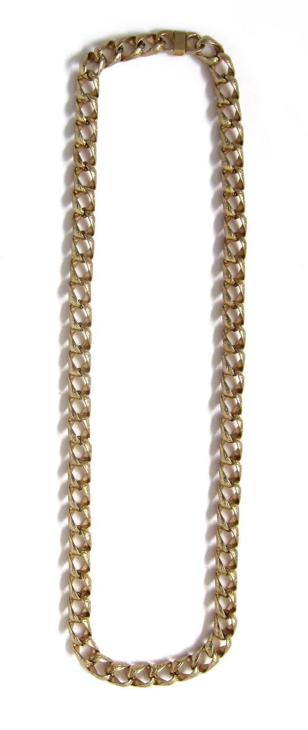 Vintage Textured Gold Chain