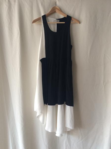 Correll Correll black & white block dress