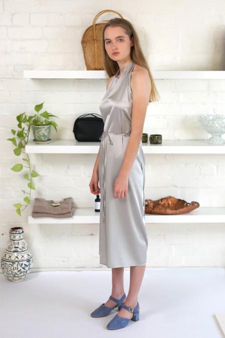 Baserange Apron Dress Silk Satin