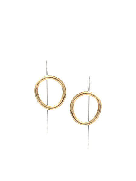 IGWT Cory Staff Earrings Brass