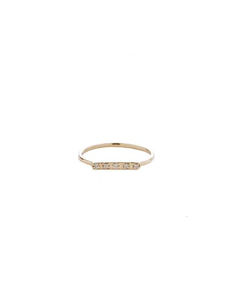 IGWT Diamond Bar Ring / Gold with Diamonds
