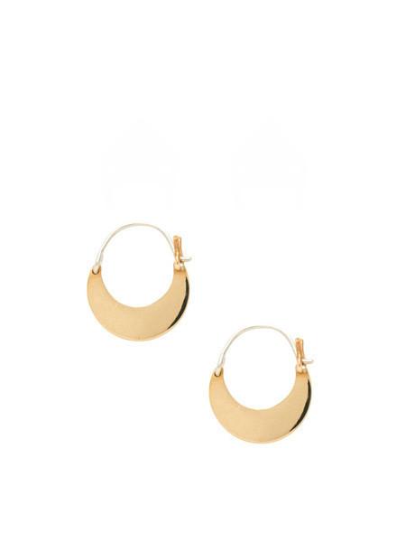 IGWT Mozi Hoop Earrings / Brass