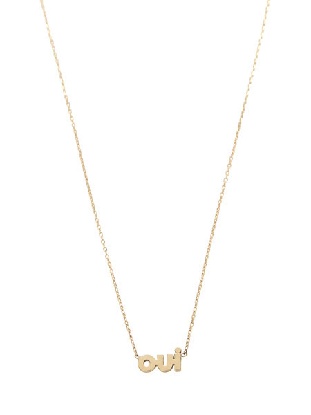 IGWT OUI Necklace / Gold