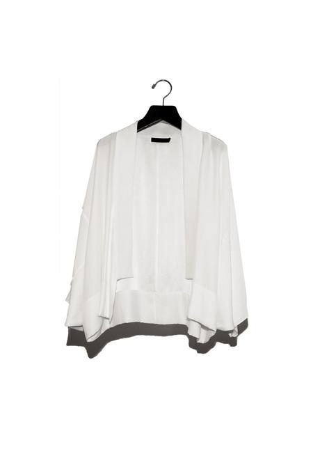 KES Cropped Silk Kimono Robe