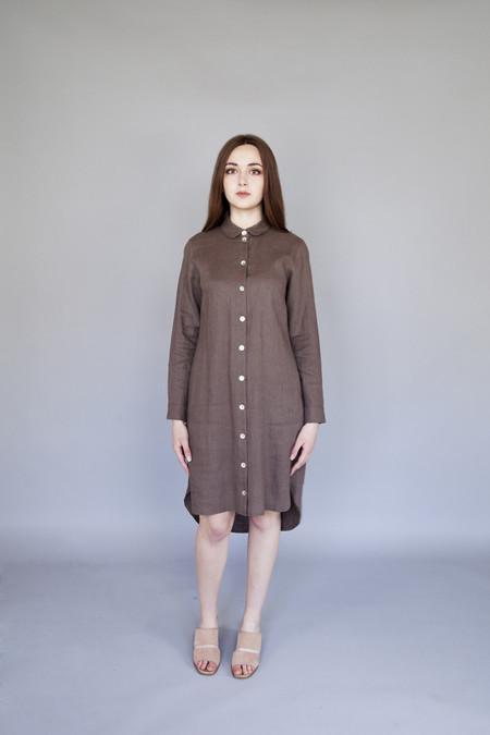 Ode to Sunday Ida Shirt Dress Chocolate