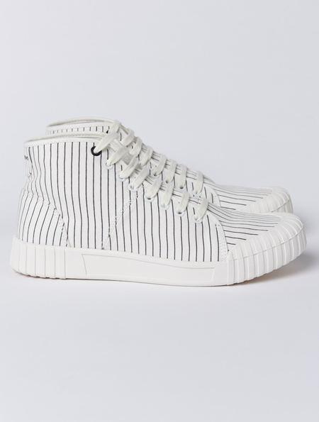 Good News Hurler Hi Shoes - White/Black Stripe