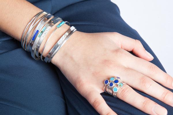 Shahla Karimi Mini Honey Ring with Lapis
