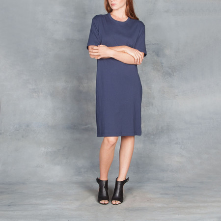 Organic by John Patrick SS Tee Dress Navy