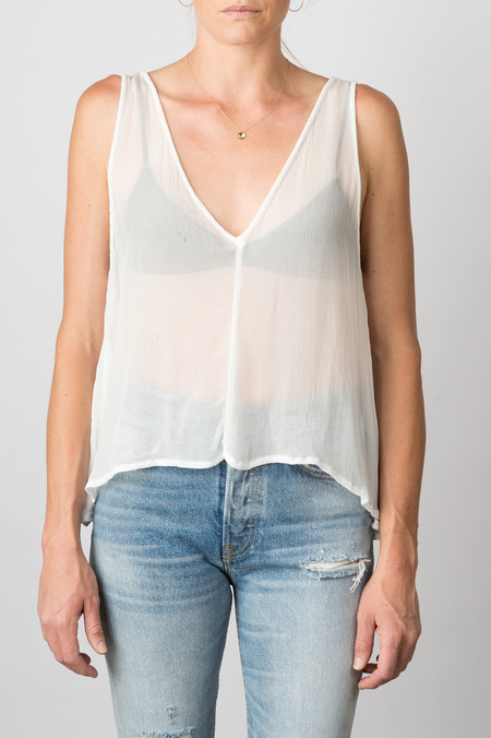 Lacausa Grace Top In White