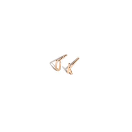 Shahla Karimi Customizable 7mm Alphabet Earrings