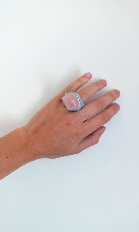 Adina Mills Rose Quartz Ring