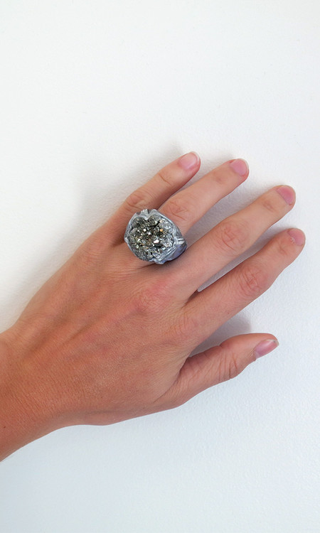 Adina Mills Small Pyrite Cluster Ring