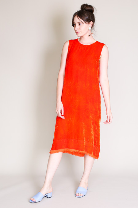 Raquel Allegra Shell dress in persimmon
