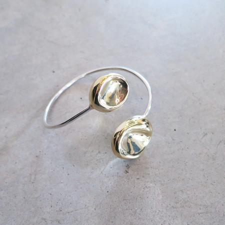 Leigh Miller Sea Pod Bracelet in Silver + Brass