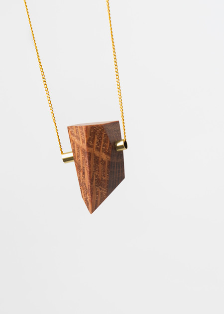 Stable State Lace Wood Maderite Necklace