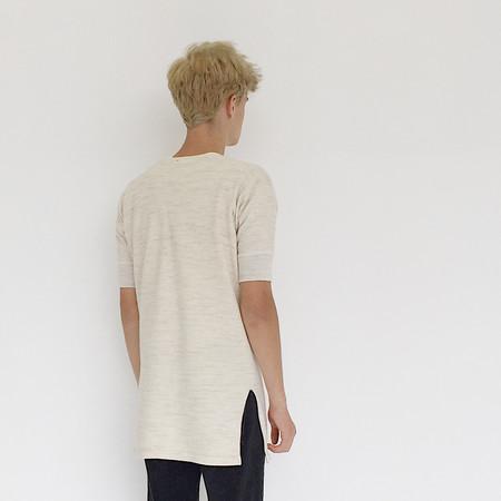 Unisex Johan Vintage Short Sleeve Oatmeal Henley