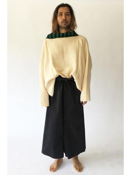 Unisex Eckhaus Latta Vented Dolman Oversized Sweater, Chamois