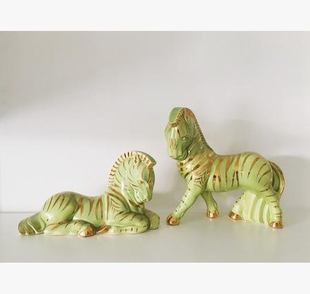Machete Ceramic Zebras Vintage