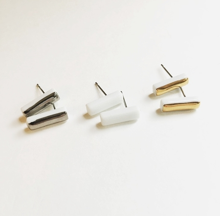 Machete Porcelain Line Earring Collection