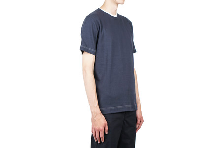 Norse Projects JAMES THREE COLOUR TEE - NAVY