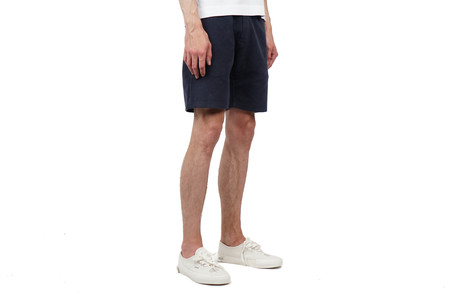 Norse Projects JARL SOLID BRUSHED SHORTS - NAVY