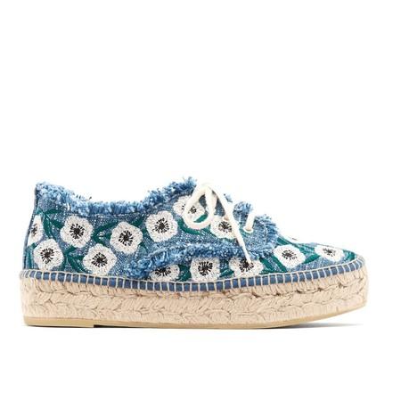 Loeffler Randall  Alfie Sneaker - Woven Indigo