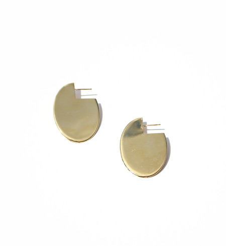 Young Frankk Gold Oval Earrings
